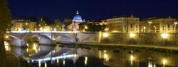Fiume Tevere, Ponte Vittorio Emanuele II, Roma
