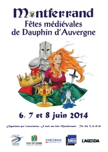 Affiche Fêtes Médiéviales de Montferrand 2014